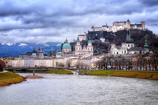 Salzburg in the Alps mountains, Austria, panoramic view in the e Stock photo © Xantana