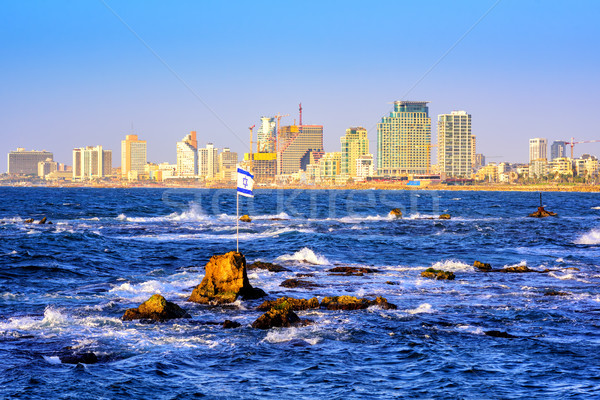 Skyline of Tel Aviv city, Israel Stock photo © Xantana