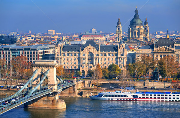 Old town of Budapest on Danube river, Hungary Stock photo © Xantana