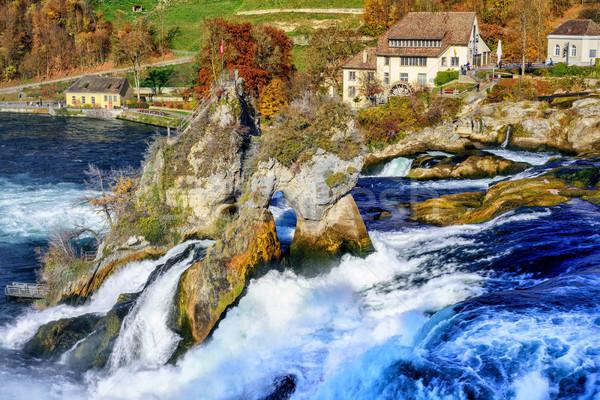 Rhine Falls in Switzerland, the largest waterfall in Europe Stock photo © Xantana