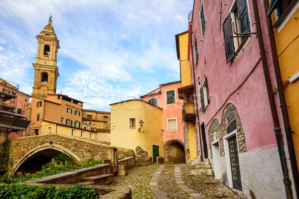 красочный домах старый город Италия традиционный исторический Сток-фото © Xantana