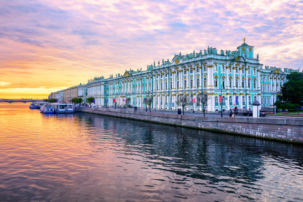 Winter Palace on Neva river, St Petersburg, Russia Stock photo © Xantana
