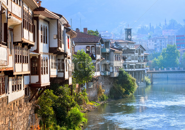 Traditional ottoman houses in Amasya, Turkey Stock photo © Xantana