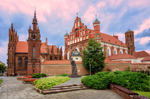 Brick gothic churches in the Old Town of Vilnius, Lithuania Stock photo © Xantana