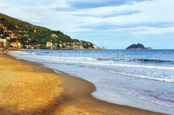 Kum plaj İtalyan akdeniz sahil güneş Stok fotoğraf © Xantana