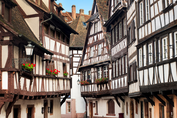 Traditional half-timbered houses in the old town of Strasbourg,  Stock photo © Xantana