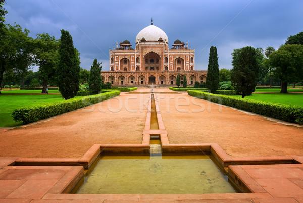 Túmulo nova délhi Índia imperador mausoléu Foto stock © Xantana