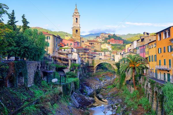 Dolcedo, small italian town in the Maritime Alps, Liguria, Italy Stock photo © Xantana