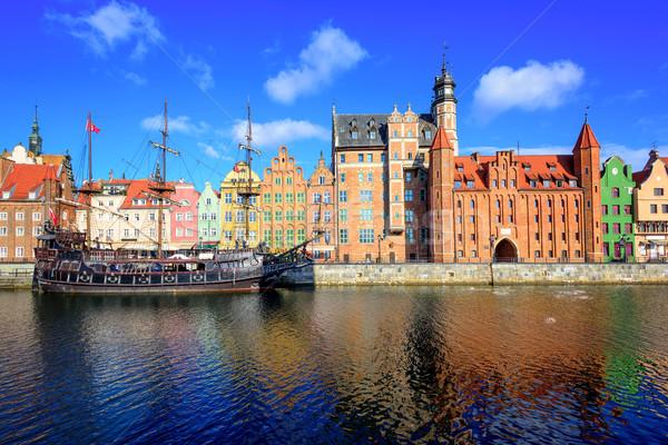 Gdansk Main Town from the river, Poland Stock photo © Xantana