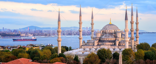 Blue Mosque and Bosporus panorama, Istanbul, Turkey Stock photo © Xantana