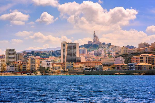 Panoramik görmek kasaba bazilika Stok fotoğraf © Xantana
