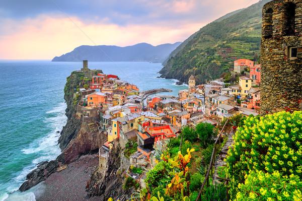 Vernazza in Cinque Terre, Liguria, Italy Stock photo © Xantana