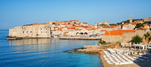 Sand beach in medieval town Dubrovnik, Croatia Stock photo © Xantana