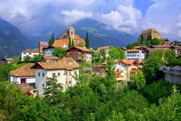 Alpine village Schenna, Meran, South Tyrol, Italy Stock photo © Xantana