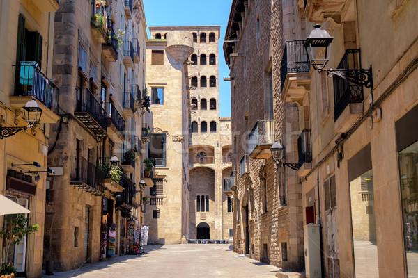 старый город Барселона Испания старые квартал исторический Сток-фото © Xantana