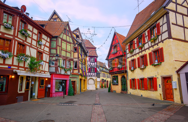 Traditional half timbered houses in Colmar, Alsace, France Stock photo © Xantana