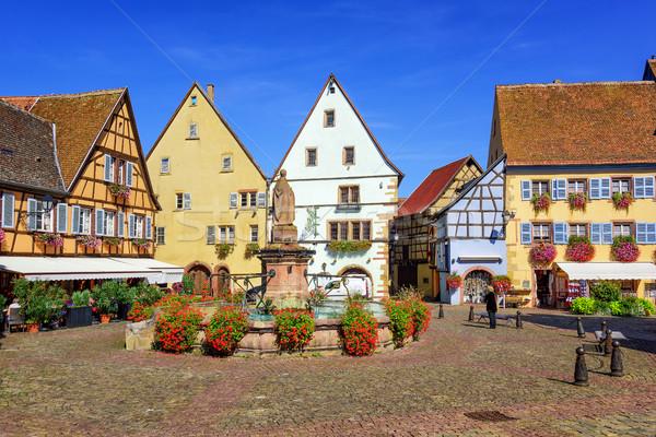 Stockfoto: Kleurrijk · huizen · Frankrijk · huis · straat · stedelijke