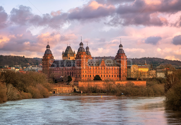 Renaissance castle Johannisburg on Main river, Aschaffenburg, Germany Stock photo © Xantana