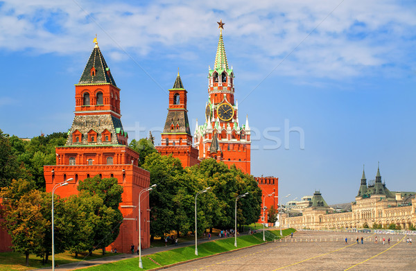 Stock photo: Red square and Kremlin towers, Moscow, Russia