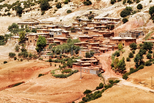 Bedouin village in Atlas mountains, Sahara, Morocco Stock photo © Xantana