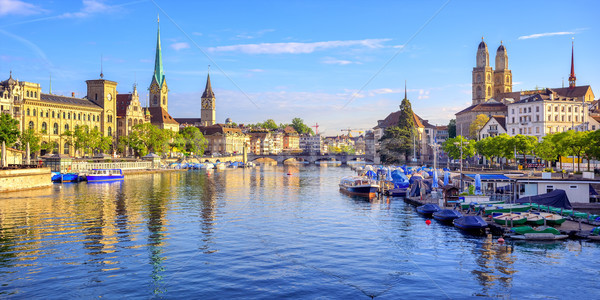 Panoramic view of the old town of Zurich, Switzerland Stock photo © Xantana