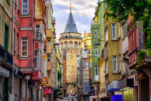 Torre città vecchia Istanbul Turchia strada città Foto d'archivio © Xantana