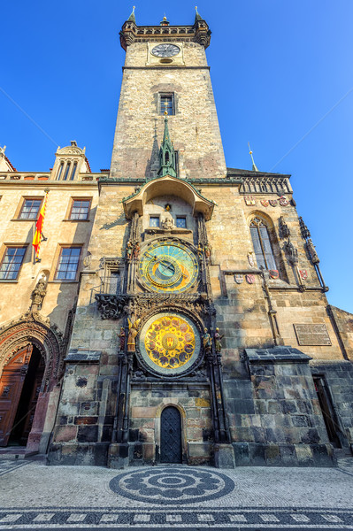 The Old Town Hall Tower with the Horologe, Prague, Czech Republi Stock photo © Xantana