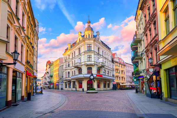 Central pedestrian street in Torun, Poland Stock photo © Xantana