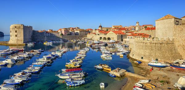旧市街 ポート ドゥブロブニク クロアチア カラフル ボート ストックフォト © Xantana