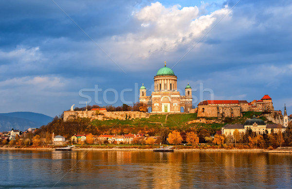 Esztergom Basilica on Danube River, Hungary Stock photo © Xantana