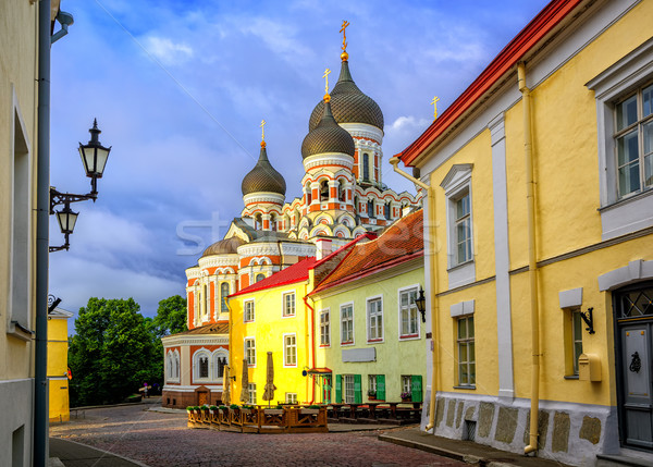 Alexander Nevsky Cathedral, Tallinn Old Town, Estonia Stock photo © Xantana