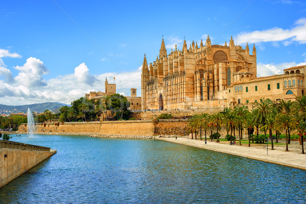 Gothic medieval cathedral of Palma de Mallorca, Spain Stock photo © Xantana