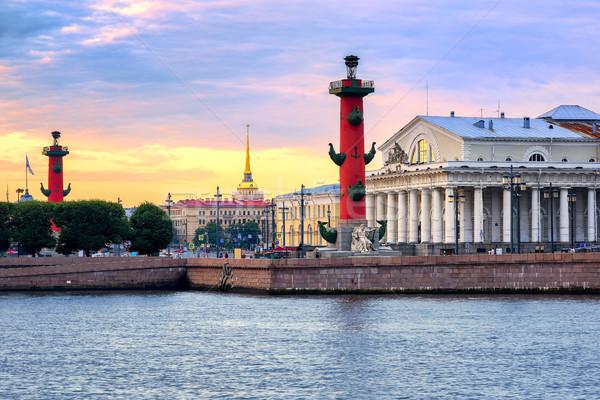 Cityscape of St Petersburg, Russia, on sunset Stock photo © Xantana