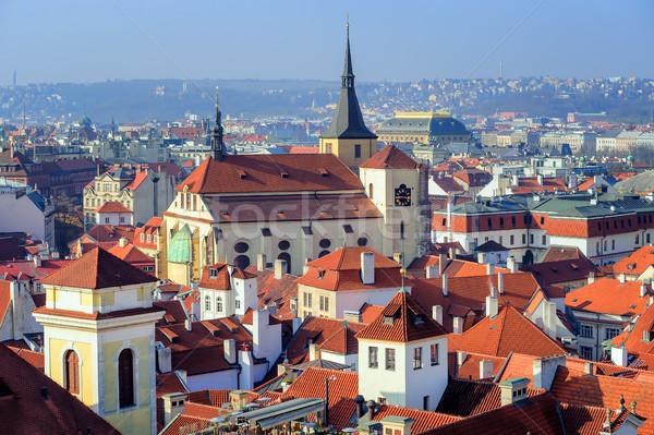 старый город чешский республика мнение традиционный средневековых Сток-фото © Xantana