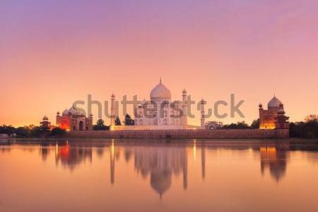 Taj Mahal in Agra, India on sunset Stock photo © Xantana