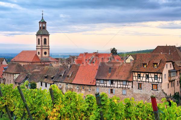 Riquewihr, Alsace, France on sunset Stock photo © Xantana