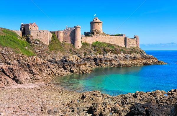 форт побережье Франция замок Гранит Сток-фото © Xantana