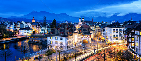 Old town of Lucerne, Switzerland, at evening Stock photo © Xantana
