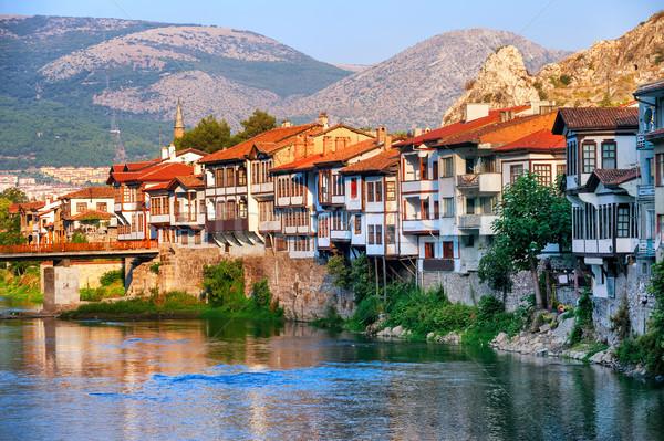 Old town of Amasya, Central Anatolia, Turkey Stock photo © Xantana