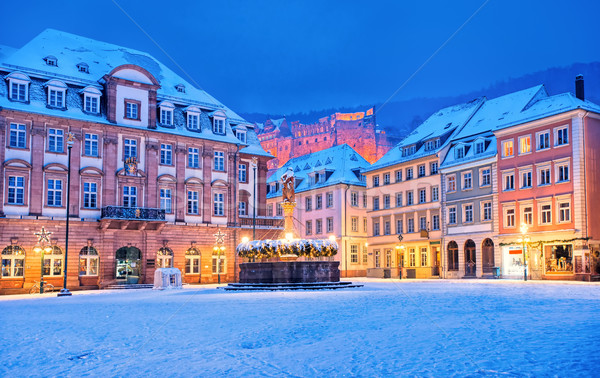 Medieval german town Heidelberg in winter, Germany Stock photo © Xantana