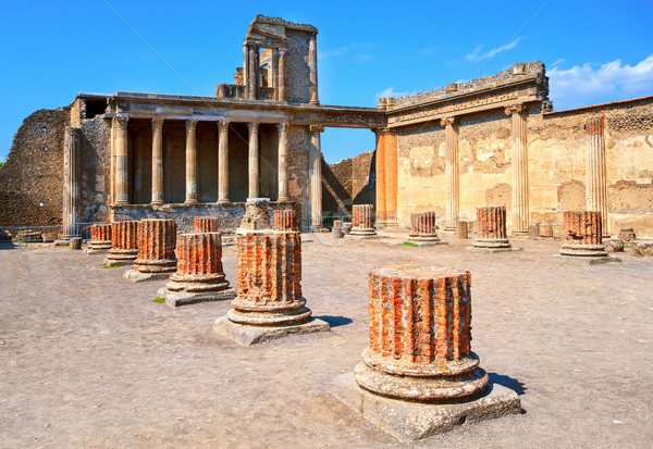 Ruins of antique roman temple in Pompeii, Naples, Italy Stock photo © Xantana