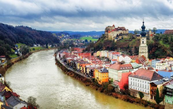 исторический старый город Германия города реке пейзаж Сток-фото © Xantana
