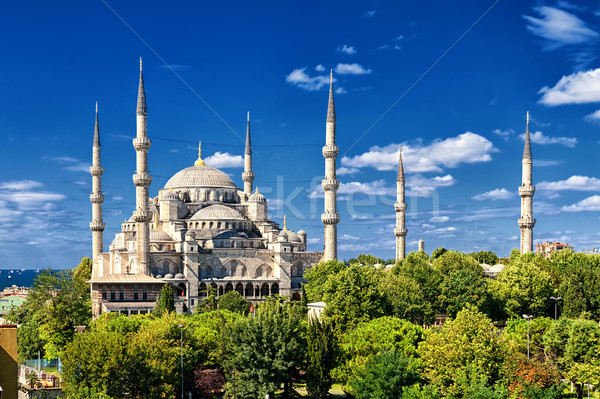 Blue Mosque, Sultanahmet, Istanbul, Turkey Stock photo © Xantana