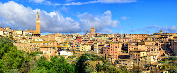 Panoramic view of Siena Old Town, Tuscany, Italy Stock photo © Xantana