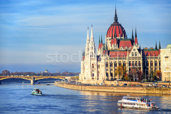 Parlement bâtiment danube rivière Budapest Hongrie Photo stock © Xantana