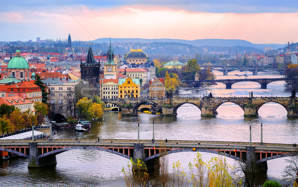 Old town and the bridges, Prague, Czech Republic Stock photo © Xantana