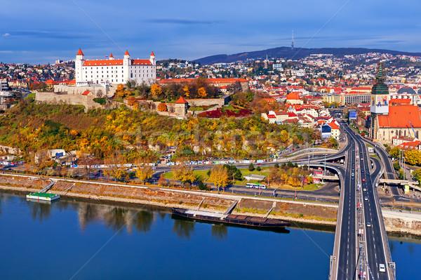 城 旧市街 ブラチスラバ スロバキア パノラマ 表示 ストックフォト © Xantana