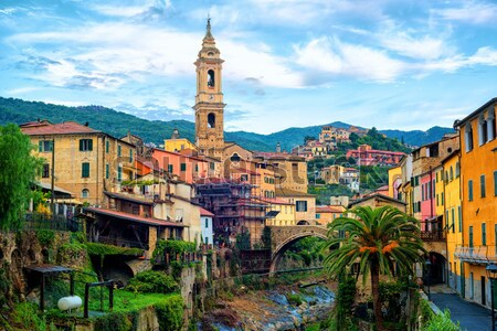 Dolcedo, small italian town in the Maritime Alps mountain, Ligur Stock photo © Xantana