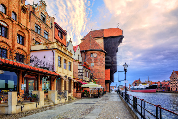 Old town of Gdansk, Poland, on sunrise Stock photo © Xantana