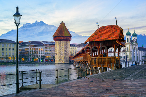 Old town of Lucerne with Mount Pilatus, Switzerland Stock photo © Xantana
